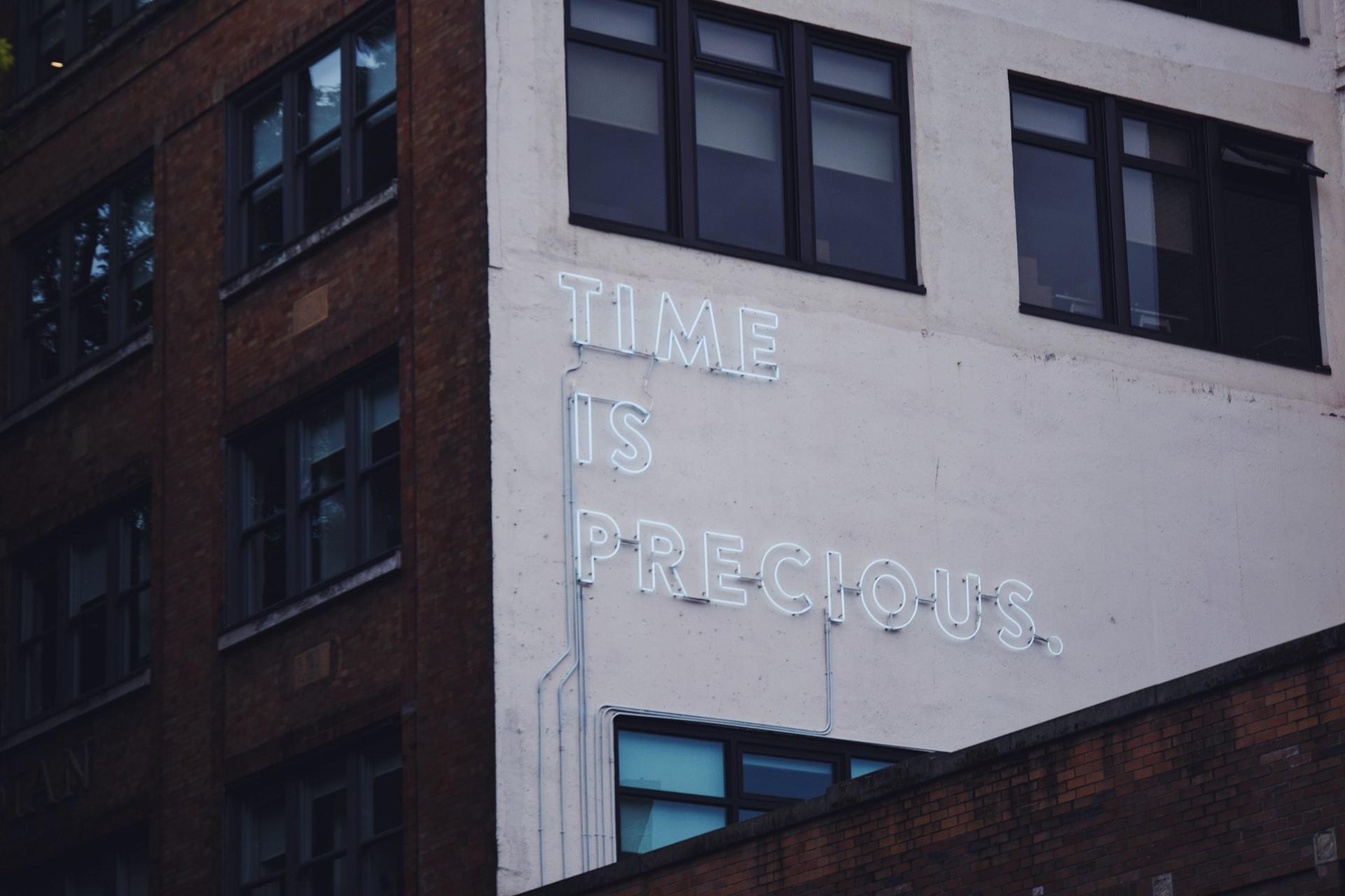 El tiempo es importante